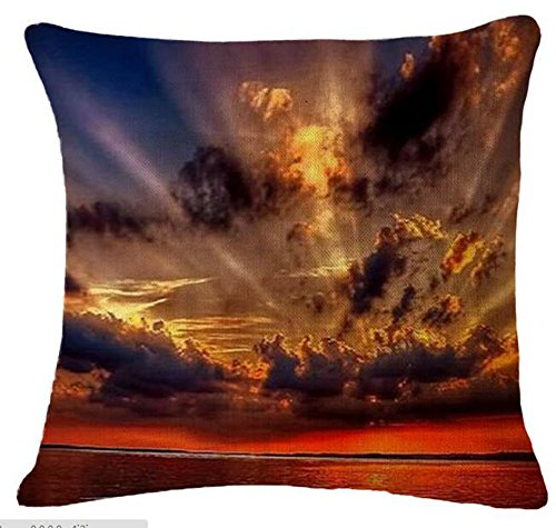 Painting sunset Cushion Decorative Inch 3