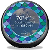 MightySkins Skin for Amazon Echo Spot - Blue Scales | Protective, Durable, and Unique Vinyl Decal wrap Cover | Easy to Apply, Remove, and Change Styles | Made in The USA