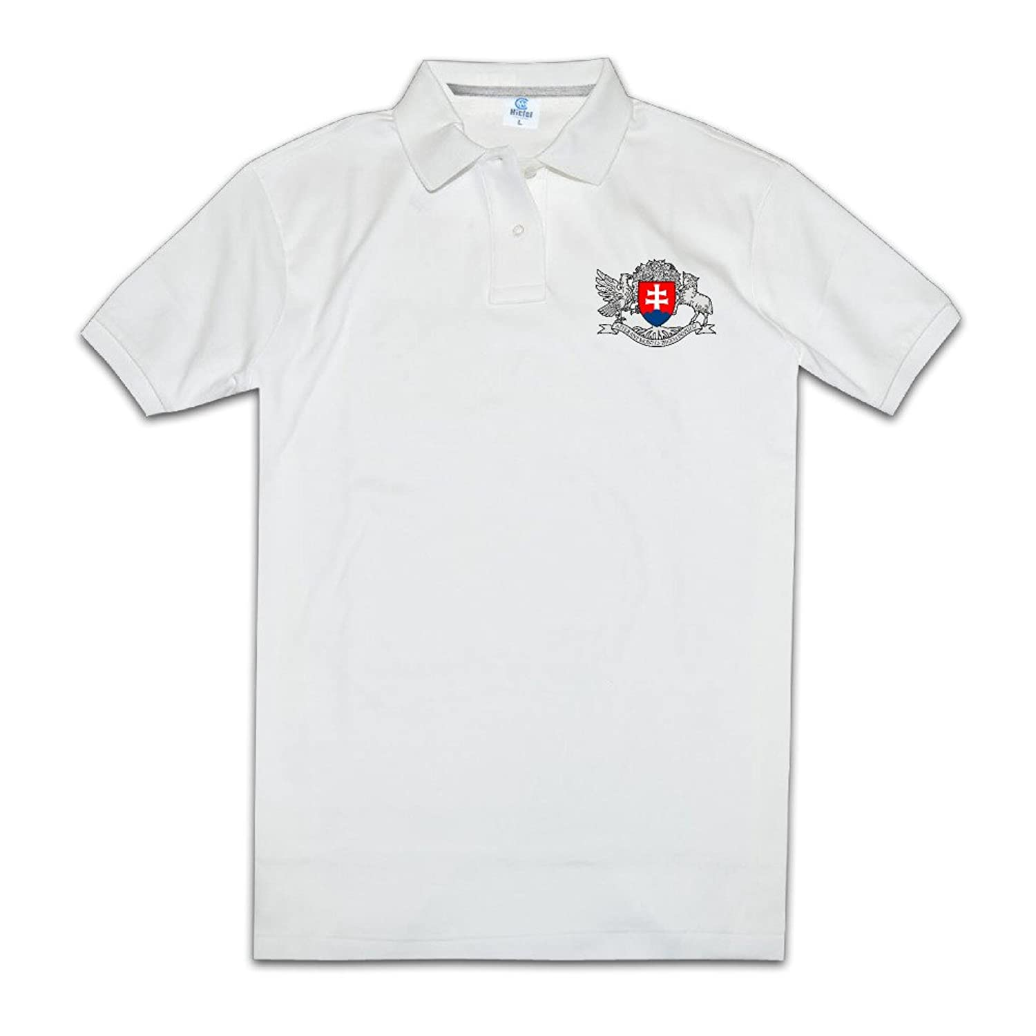 Men's Summer Blank 2016 The Honorary Consulate Of The Slovak Republic Polo Tees Size XL Color White