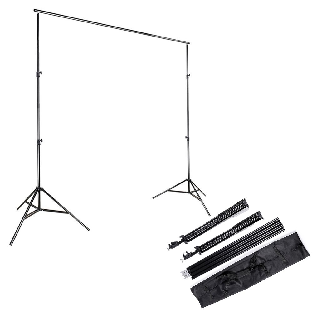 Kshioe 2x3m/6.5x9.8ft Photo Video Studio Adjustable Background Backdrop Support System Stand with Carry Bag by Kshioe