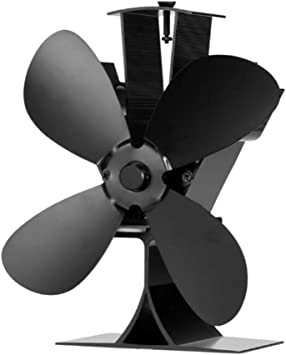 Ventilador eléctrico con 4 aspas para chimenea, funciona con calor ...
