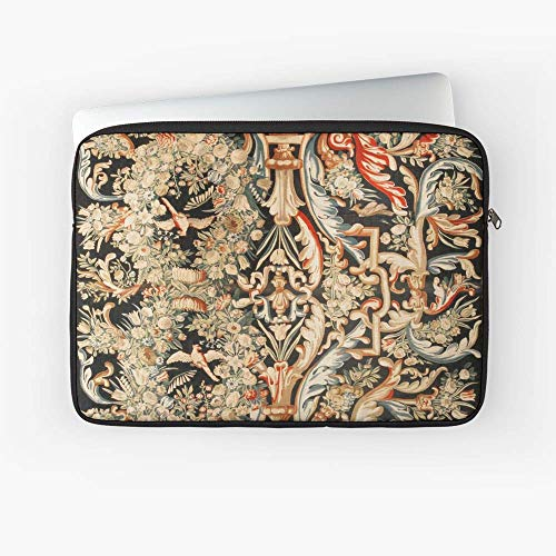 (Antique French Gobelins Aubusson Tapestry Laptop Sleeve - The Most Meaningful Gift for Family and Friends.)