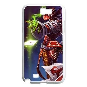 samsung n2 7100 phone case White Twisted Fate league of legends LGF5530061