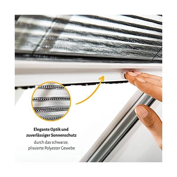51PO k9wDcS empasa Insektenschutz Fliegengitter Dachfenster Plissee 'Master' Alurahmen verschiedene Größen in weiß und braun als…