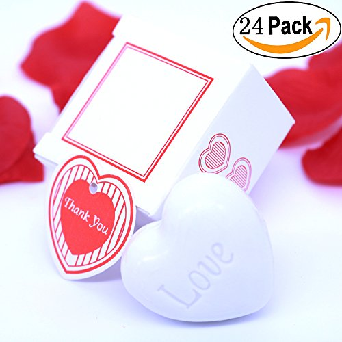 AiXiAng Cute Mini 24 Pieces Handmade Scented Soap Guests Kee