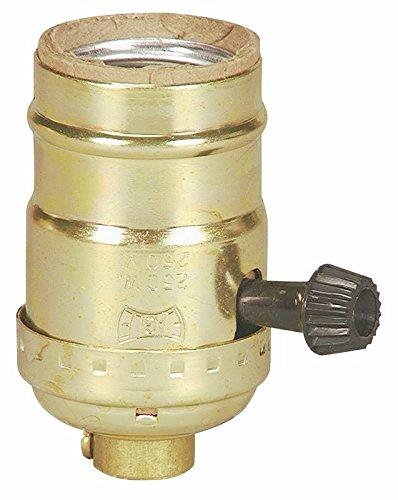 Cooper Wiring Devices Inc #bp917abd Brass Finish Sp Turn Key Socket