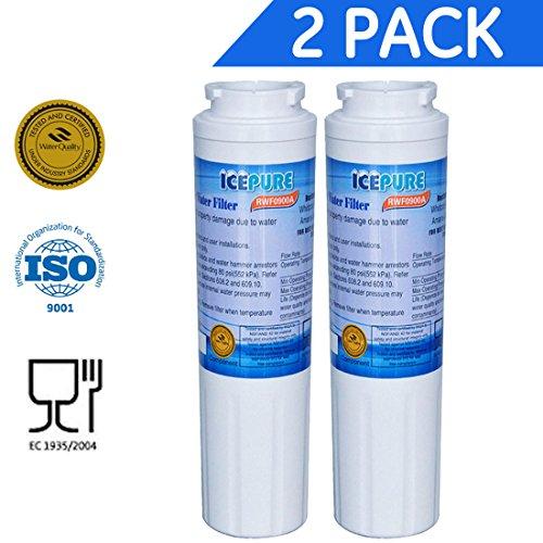 2 - Pack IcePure Water Filter to Replace Maytag, Amana, Kenmore, Jenn-Air, Whirlpool, Kitchenaid, UKF8001, UKF8001AXX, UKF-8001P, UKF9001, UKF9001AXX, 469006, 469992, 9005, 9006, 469030, 12527304, 4396395, WF295, WF50, SGF-M10