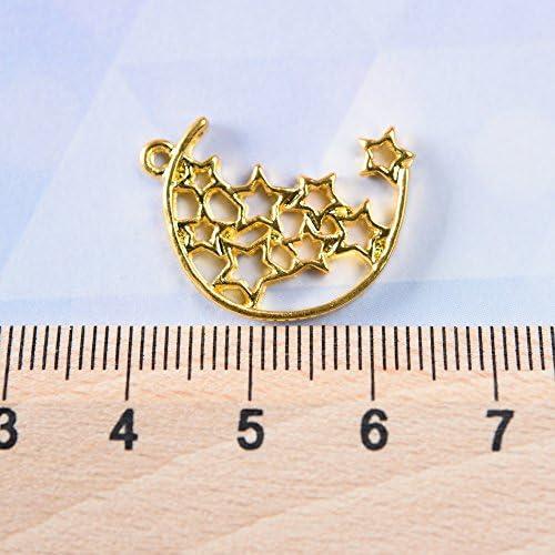 星寄せチャーム ゴールド 10個 レジン パーツ 空枠 ハンドメイド 材料