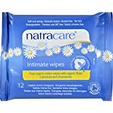 Image: Natracare Organic Cotton Intimate Wipes | CMade from 100% organic cotton | enriched with organic essential oils of apricot, linden, and chamomile | Biodegradable and compostable | Gentle formula is free from alcohol and detergents