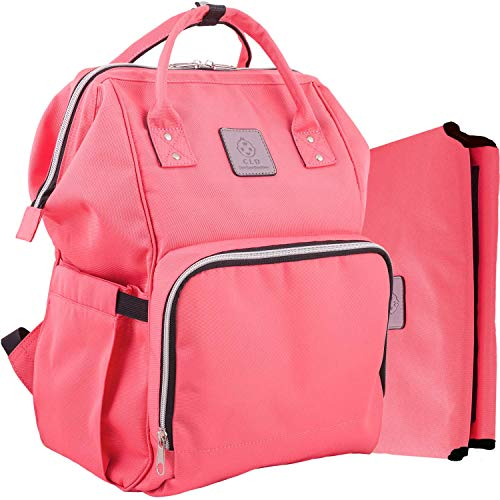 Baby Bag Backpack for Travel and Portable Changing Mat Set – Multifunction Diaper Bag for Moms and Dads Made from 900 D Waterproof Nylon – Suitable as a Baby Shower Gift for Boys and Girls