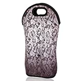 iColor insulated Wine bag tote Holder Covers for Champagne,Wine,Beer Bottles,Beverages,Containers,Soft Drinks,Sodas,Sports Water Bottles,Baby Bottles,Make of thick Neoprene,Zipper Closure,Machine-Washable Wine bag-03