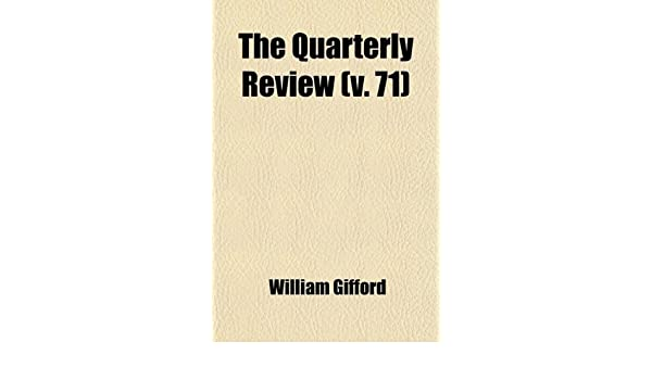 The Quarterly Review (Volume 71): Amazon.es: Murray, John: Libros en idiomas extranjeros