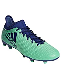 Adidas Men's X 17.3 Firm Ground Soccer Shoes, Footwear White/Energy Blue/Clear Grey, 9.5 M US