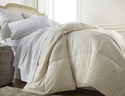 ienjoy Home Home Collection Premium Luxury Down Fiber Comforter, Full/Queen, Ivory