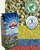 Colombia SWP Decaf Rain Forest Alliance Raw (Green) Coffee Beans, 2lbs