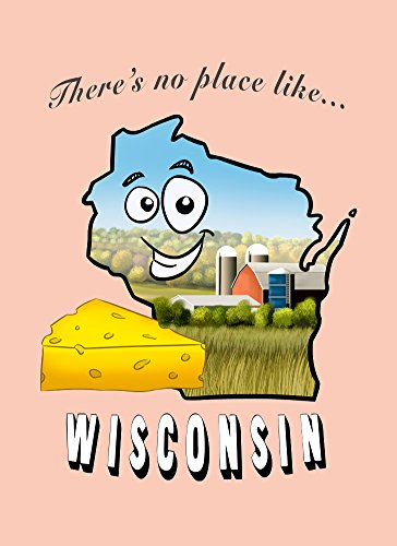 Rectangle Refrigerator Magnet - There's No Place Like Wisconsin