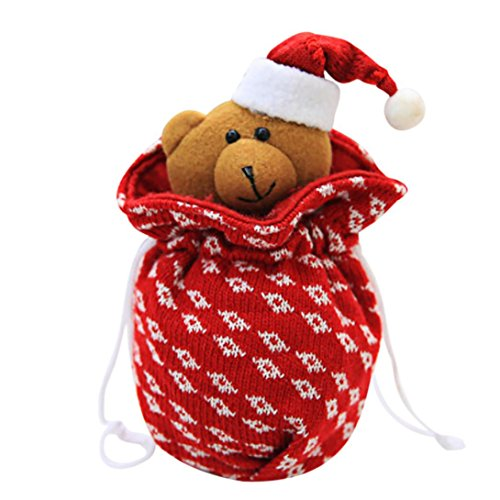 Diy Aztec Costume (Christmas Candy Bags,Elevin(TM)2017Children Apple Bag Christmas Gift Gift Bag Christmas Candy Sugar Gift Bag Storage (C))