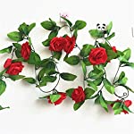 HY-8-Feet-Pack-of-2PCS-Artificial-Fake-Silk-Rose-Flower-Ivy-Vine-Hanging-Wedding-Dcor-Party-Home-Garden-Supermarket-Decoration-8-Colors