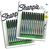 Sanford Sharpie Fine Point Pen Stylo, Assorted Colors, 24-Pack