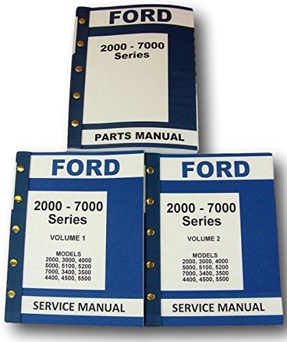 Lot New Ford 2000-7000 Series Tractor Service Repair Shop Parts Manuals ()