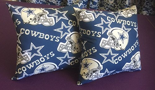 (Dallas Cowboys NFL Football Cotton Pillows 16 x 16 With Insert Included)