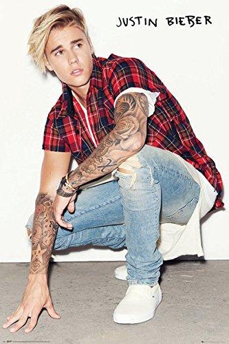Justin Bieber - música/Personalidad Póster (en Cuclillas de ...