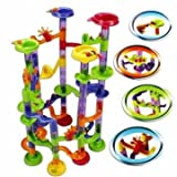 Zadaro 58Pcs Marble Run Race Coaster Set DIY Building Blocks Creative Track Game Tower Marble Ball Construction Toys
