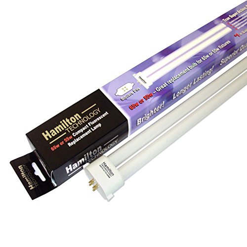 Square Pin 55W/65W PC Compact Real Actinic Blue Fluorescent Bulb - 55 Watt Power Compact Aquarium