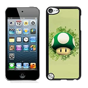 Beautiful Designed Case With Cute Cartoon Super Mario Black For iPod Touch 5 Phone Case