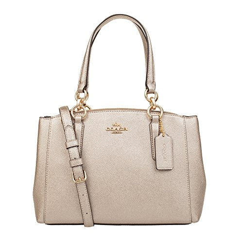Carryall Christie Coach Leather in Bare Gold Crossgrain pFZZqAw7