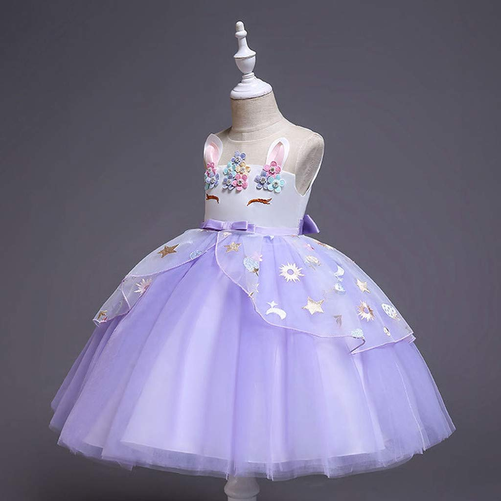 Tulle Dresses Baby Girls Princess Party Pageant Kids Prom Ball Gown Clothes