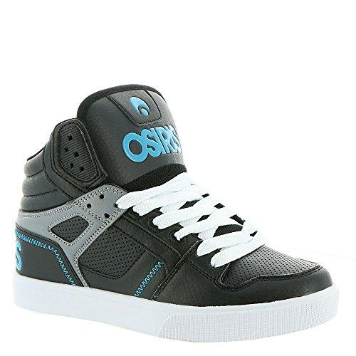 Osiris Skateboard Shoe (Osiris Women's Clone Skate Shoe, Black/Teal/Grey, 11 M US)