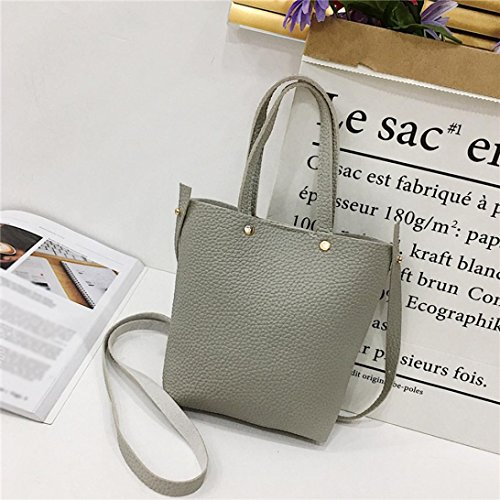 Clearance Women color Corssbody Shoulder Saddle Deals Shoulder amp;Handbag Bag Bags Crossbody Pure Bags With Gray TOOPOOT 7r7Ewgx