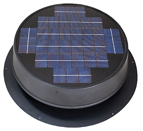Ultra Low-Profile 24-watt Natural Light Solar Attic Fan