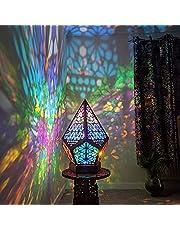 LED vloerlamp, bohemian licht, 3D-projectie holle nachtlampdecoratie, kleurrijke diamantlampen, vloerdecoratieve lamp, bureautafel kunst geschenken, uniek licht voor slaapkamer bruiloft Kerstmis