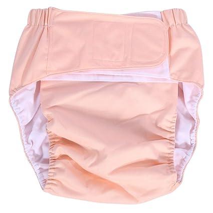 Pañal de Bolsillo para Adultos Pañal Ajustable Pañal Pantalones Lavables para Pañales Reutilizables para el Cuidado