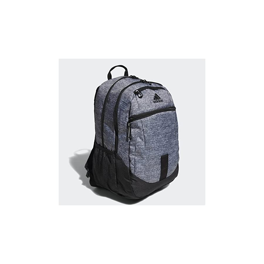 adidas Foundation Backpack, Onix Jersey/Black, One Size