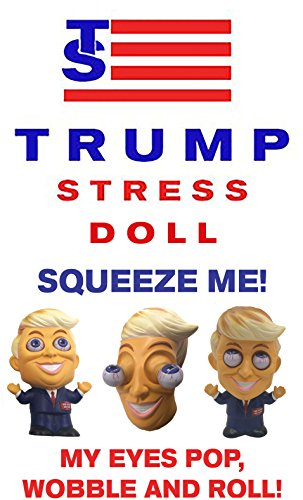 Donald Trump Parody Stress Doll-5 Inches Tall-Squeeze Him And His Eyes Bulge Out Of His Head