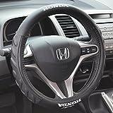 Honda Odorless Car Steering Wheel Cover for 13.5 to 14.5 inch Steering Wheels - (Black)