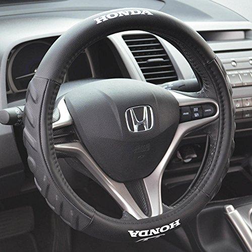 Honda 100% Odorless Car Steering Wheel Cover - Black, Standard (14.5 to 15.5 inch Wheel)