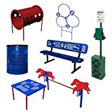 BarkPark Best in Show 7-Piece Dog Agility Course Set, Blue/Red
