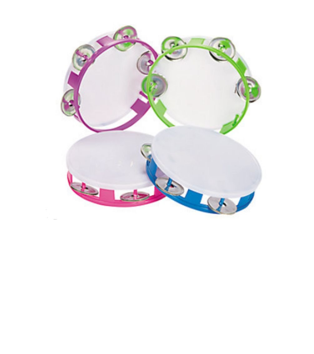 Tambourine Youth 5 1/4 Inch Plastic (Pkg of 6) for School or Church