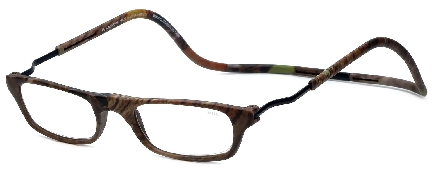 1477cd2f6acc Amazon.com  Clic Magnetic Reading Glasses XXL King s Camouflage in Power + 1.50  Health   Personal Care