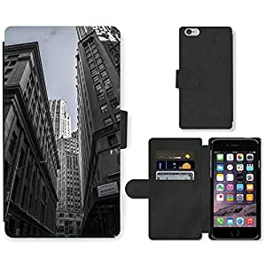 Hot Style Cell Phone Card Slot PU Leather Wallet Case // M00170165 Skyscrapers New York City Centre // Apple iPhone 6 PLUS 5.5""