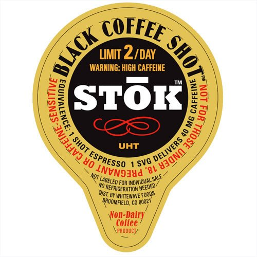 SToK Caffeinated Black Unsweetened Cold Brew Coffee Shots (25) by River Finn Organics