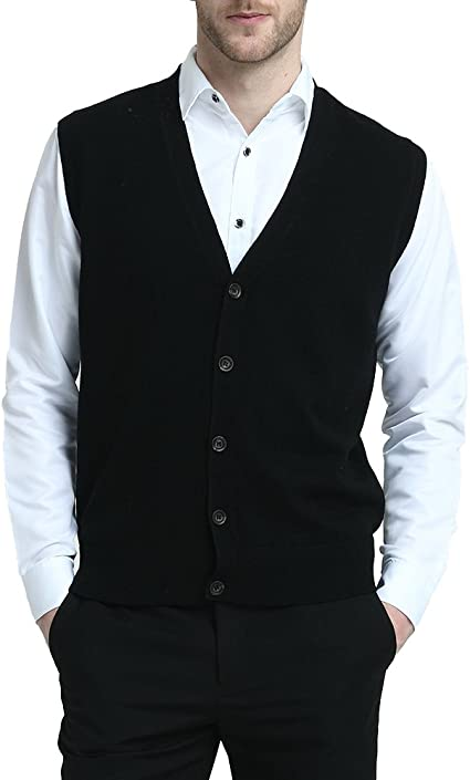 SportsX Men Fitted Knit Sweater Relaxed Regular-Fit Solid Cardigan Top