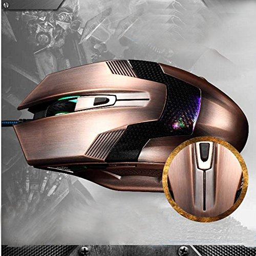 Gaming Mouse - BADALink Cool Brown USB Line Gaming Mouse for Computer Laptop