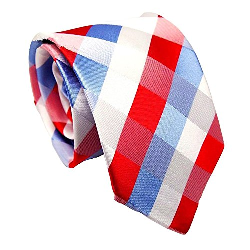 MINDENG New Men's Black and White Striped Silk Jacquard Woven Suits Tie - Bow 8 Tie Bit