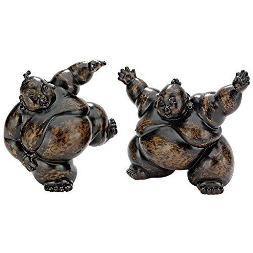 Design Toscano Full Contact Sumo Wrestler Statues, (Splat Garden Art)