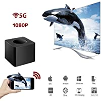 Lovingvs WIFI Display Dongle, WiFi Wireless HDMI 1080P Mini Display Receiver with AV Output and Marquee Light HDMI TV Miracast DLNA Airplay for IOS/Android/Windows/Mac¡­ (5G)